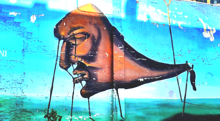 Graffiti Girona, Dalí