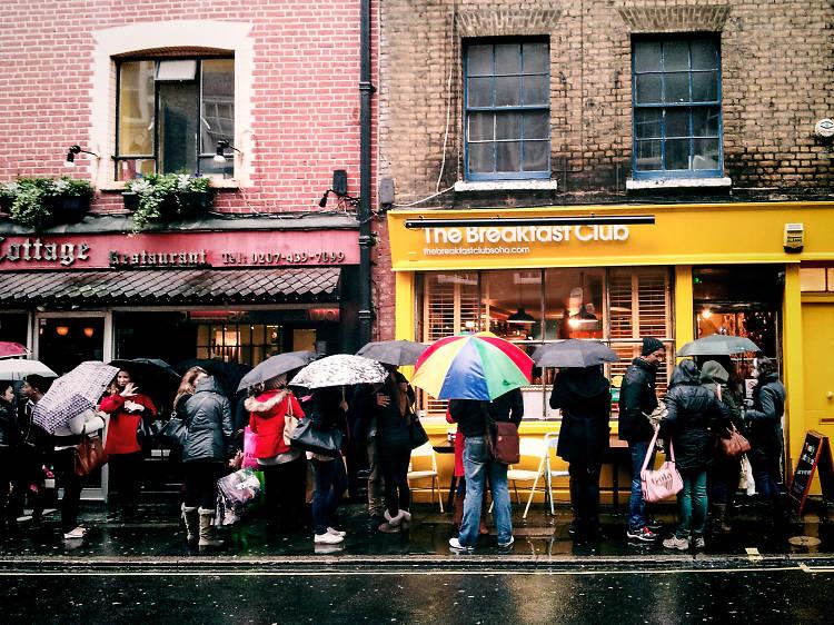 Londoners love a queue