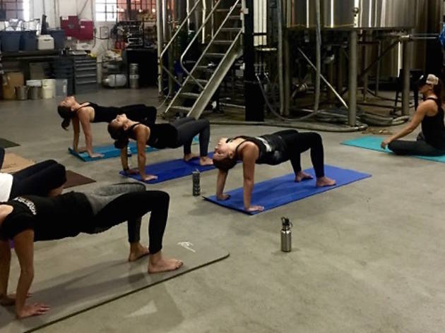 Downward Grog: Brewery Yoga is a thing you can do!
