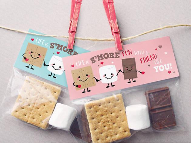 S'mores Valentine Treat Bag by LemonadeDesignStudio