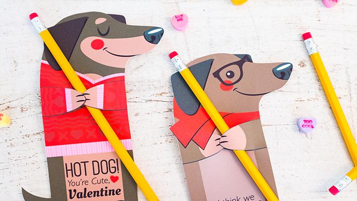 Adorable DIY printable valentines for kids