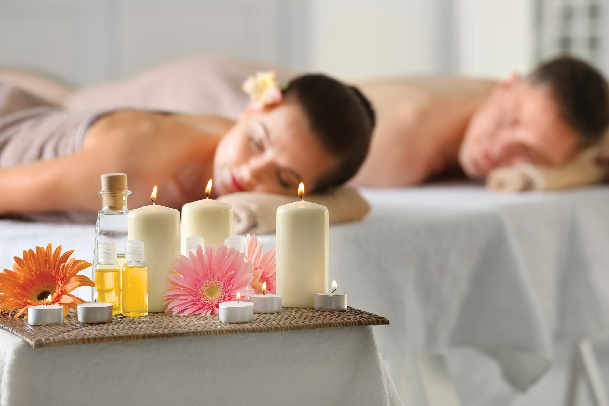 Pamper yourselves together at the spa