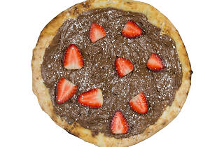 Nutella pizza with strawberries