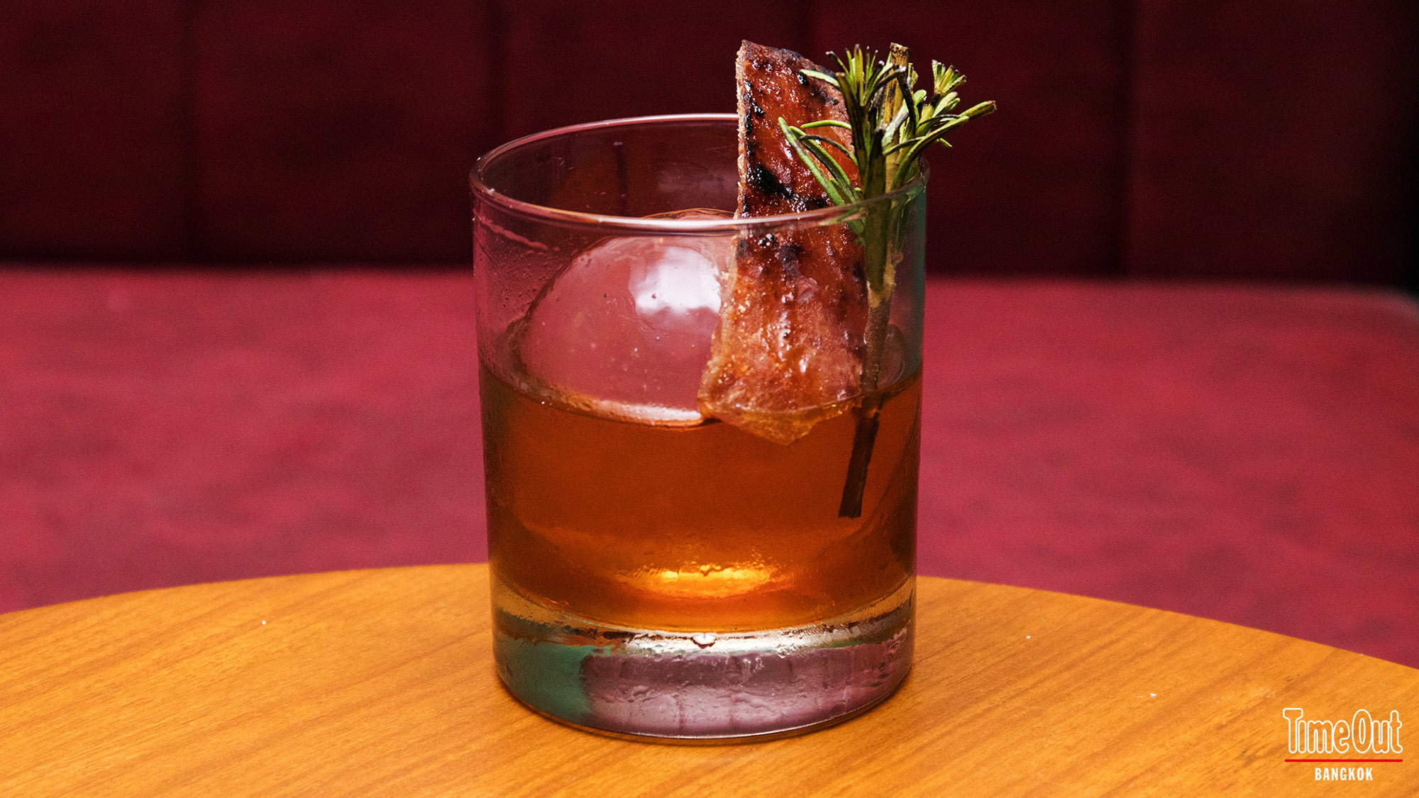 Herbal-infused cocktail at dim dim