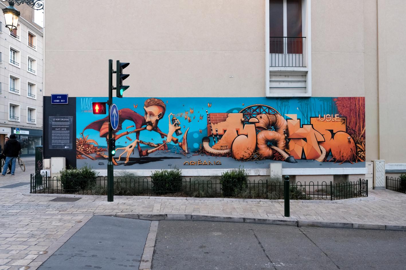 Le M.U.R Oberkampf s'exporte à Orléans