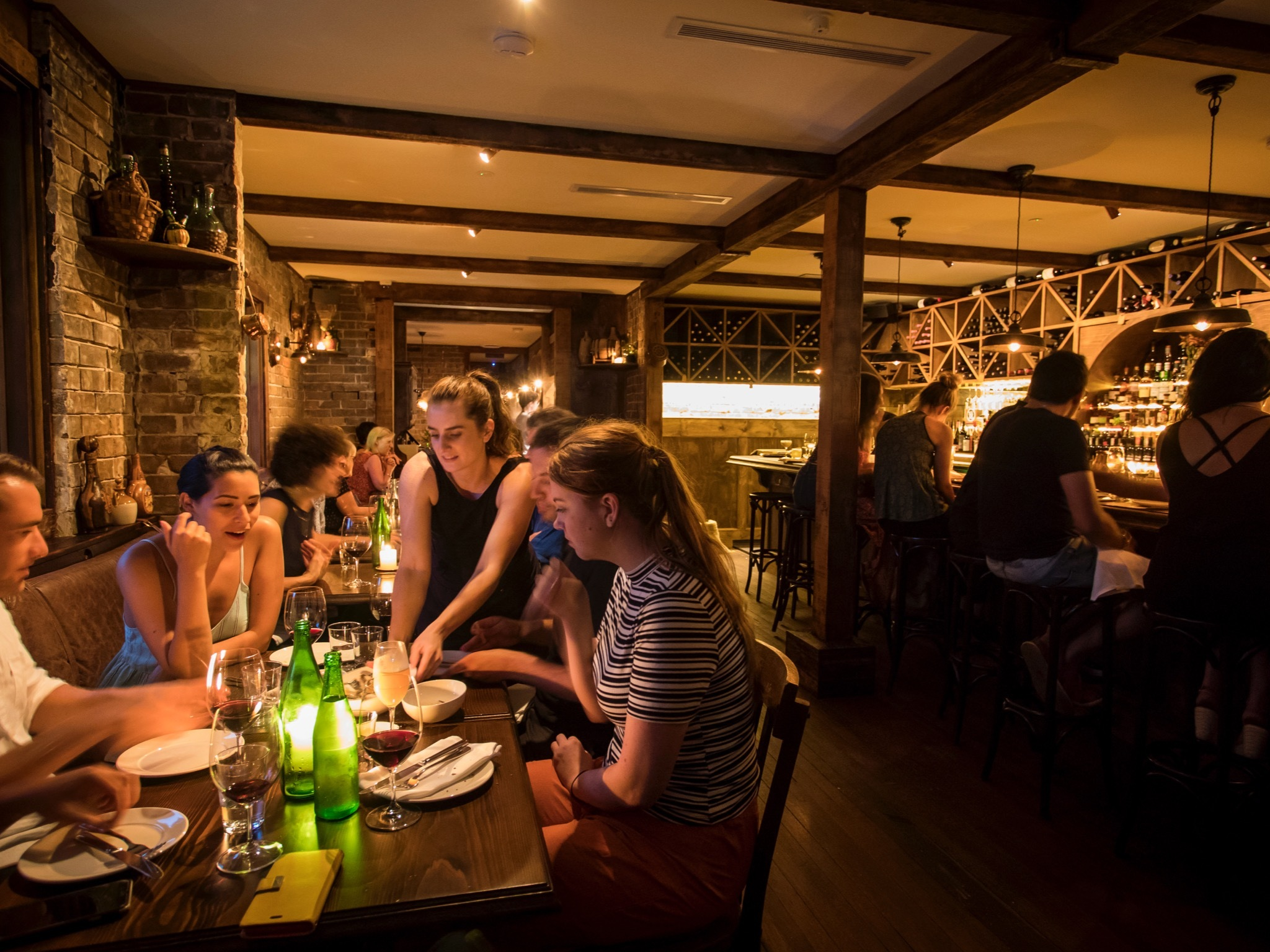 Dining area at Pino Vino e Cucina