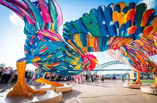 Rooster at Sydney Opera House for Lunar New Year