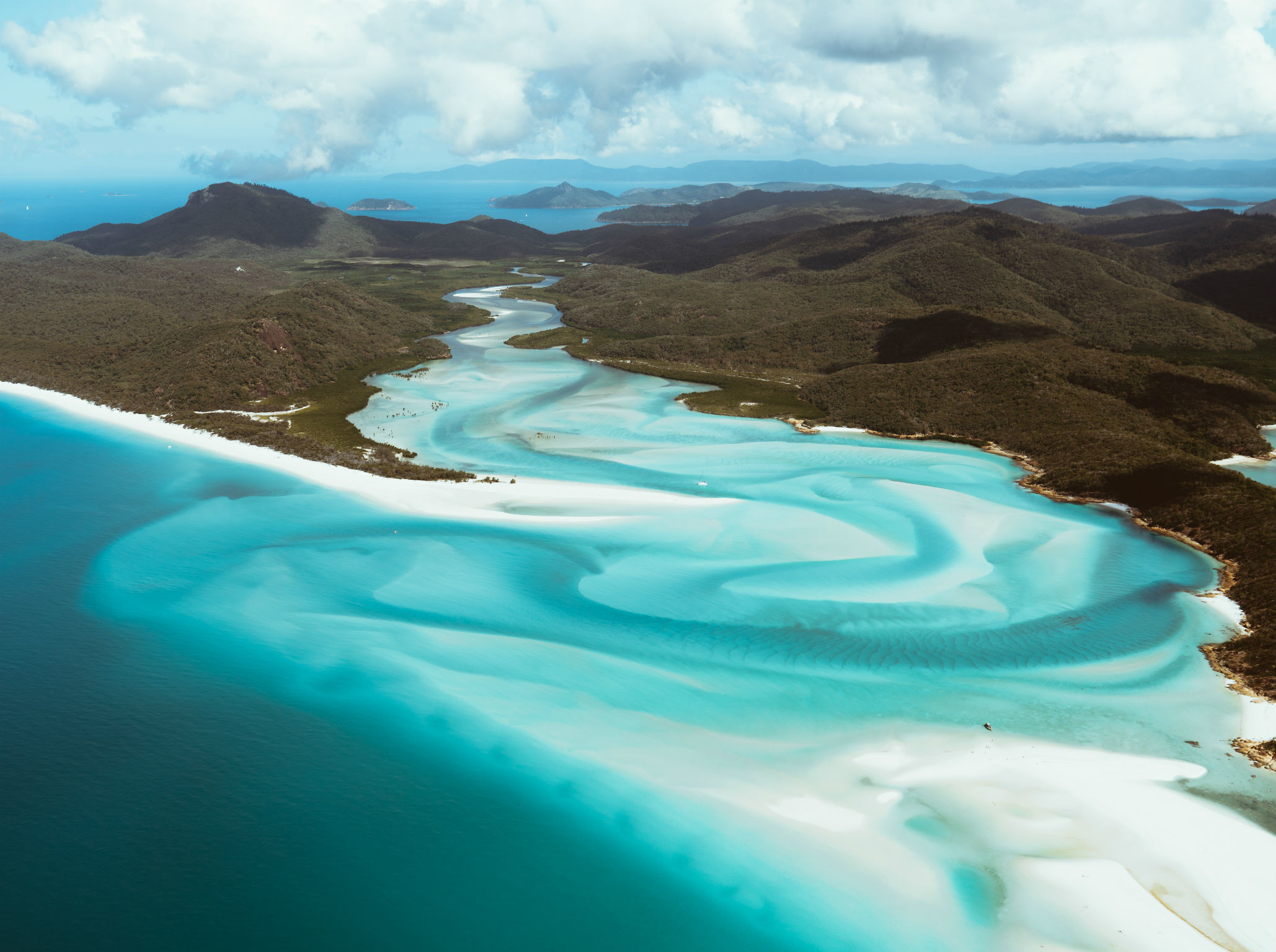 Hill Inlet view from seaplane Whitsundays