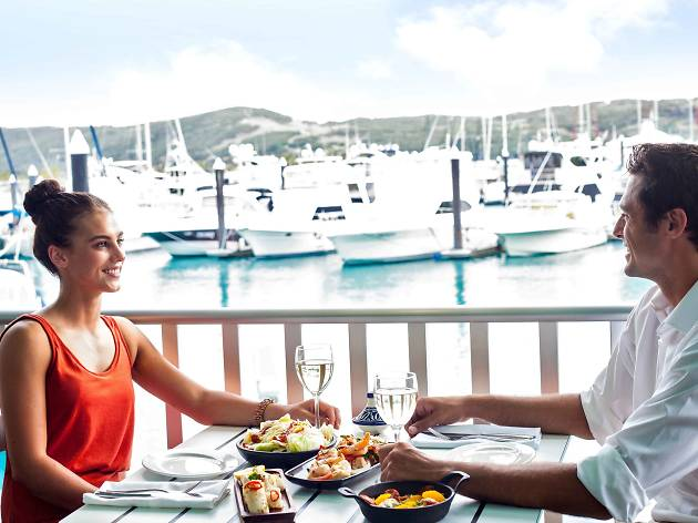 Couple dining at Manta Ray Restaurant Whitsundays