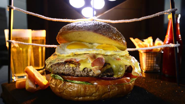 mirage raging bull burger