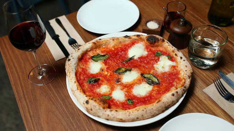 Margerita pizza at SPQR Pizzeria