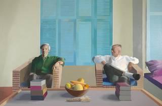 Christopher Isherwwod and Don Bachardy, © David Hockney
