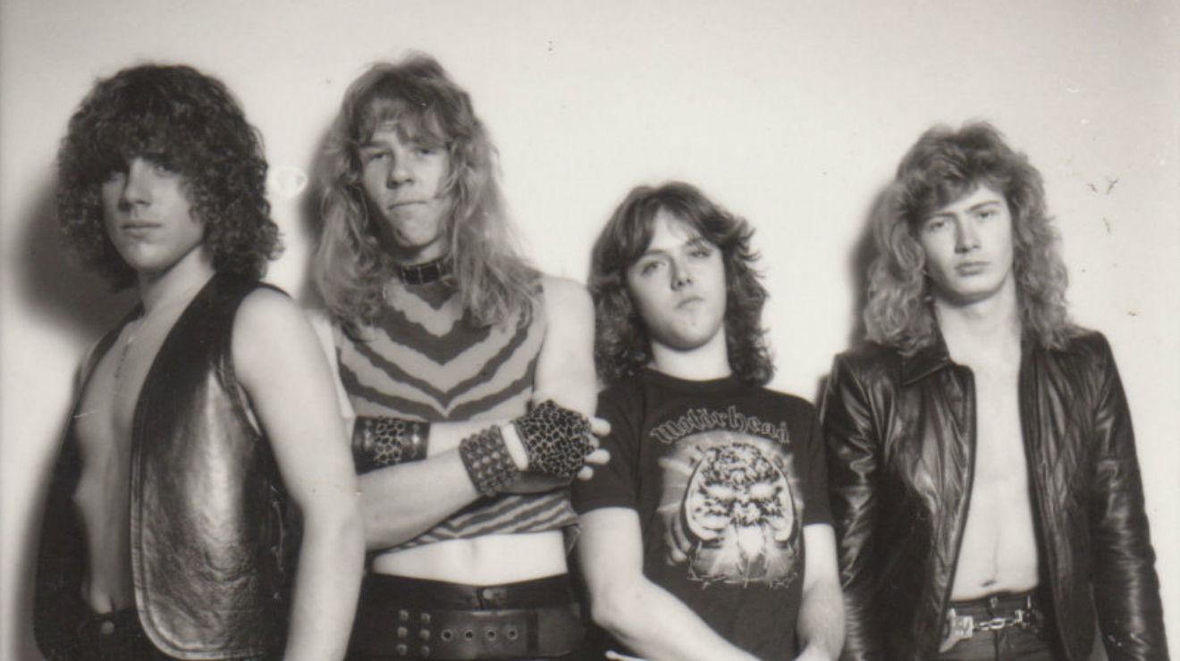 Metallica en 1983, cuando lanzaron Kill'em all