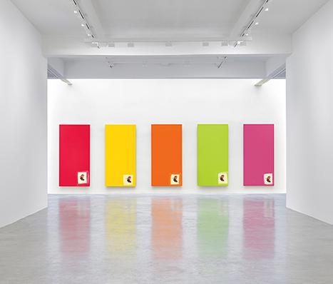 """Michel Majerus, """"Aluminum Paintings"""""""