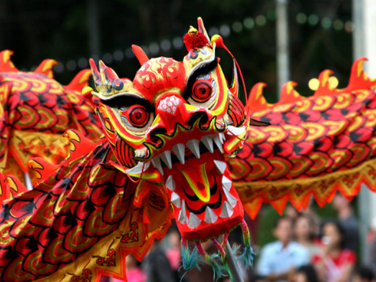 See the lion dance in Chinatown during Chinese New Year