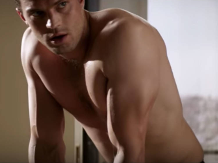 And Jamie Dornan with his top off