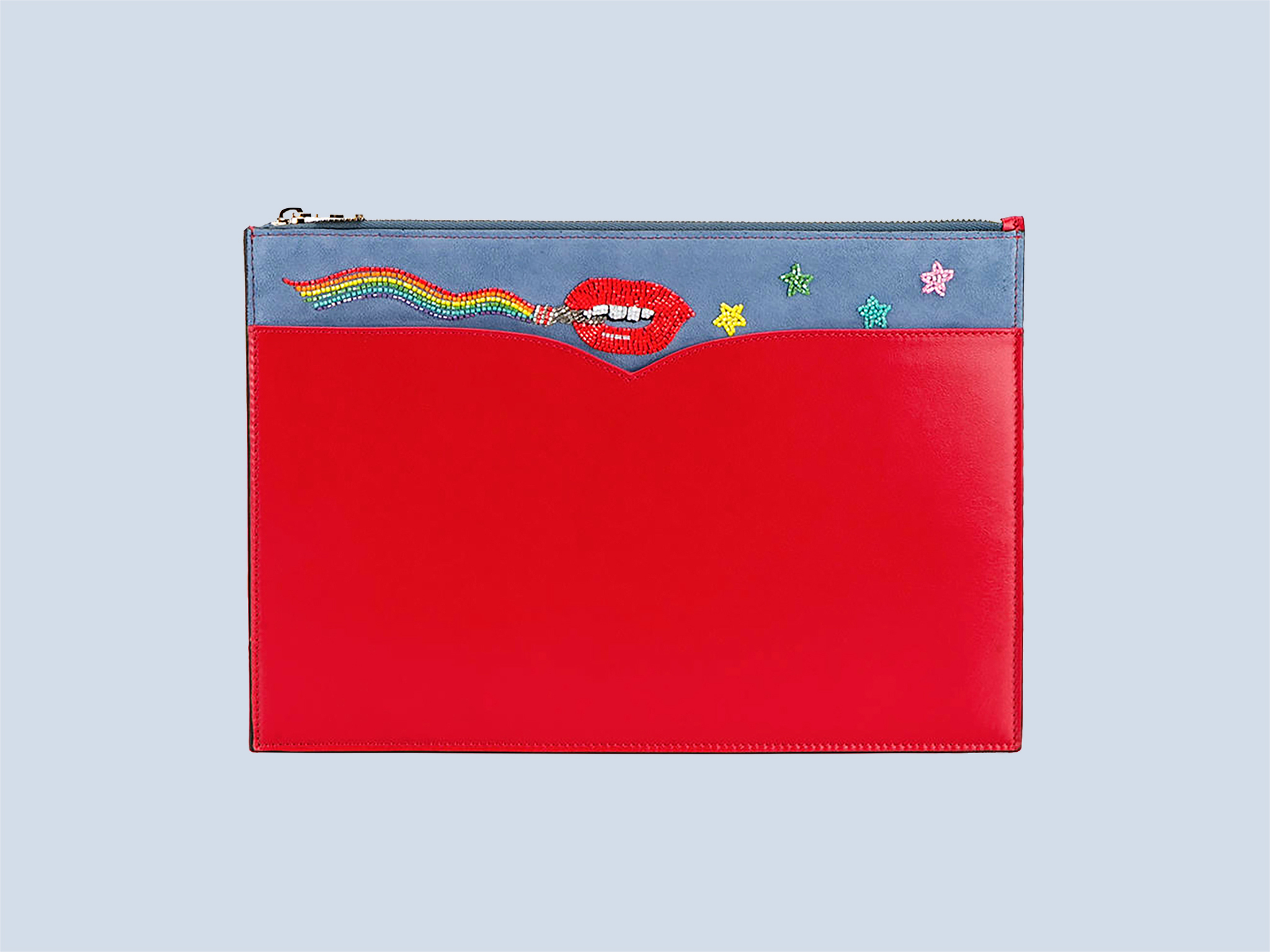 Smoking Lips Beaded Clutch, Valentine's Day gifts for her