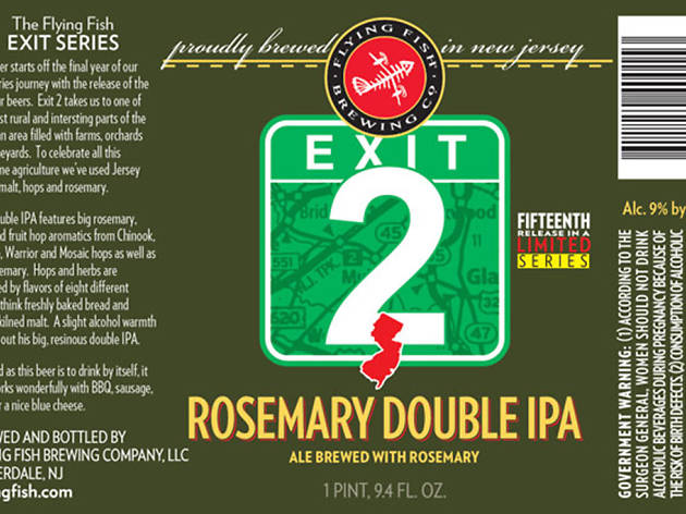 Exit 2 Rosemary Double IPA, Flying Fish Brewing Company
