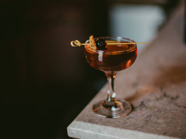 <p>Maple Manhattan at Sassafras</p>