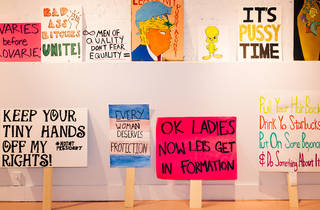 New crowdsourced exhibition showcases art from the women's march