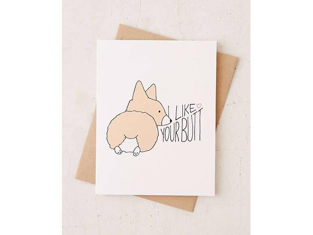 Tiffbits Corgi Love card