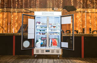 There's a community fridge in Brixton where you can donate food to those in need