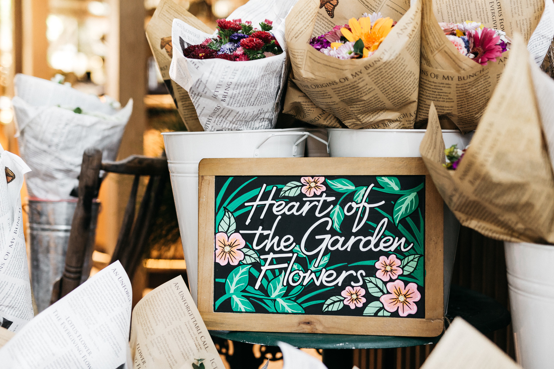 Heart of the Garden pop-up florist