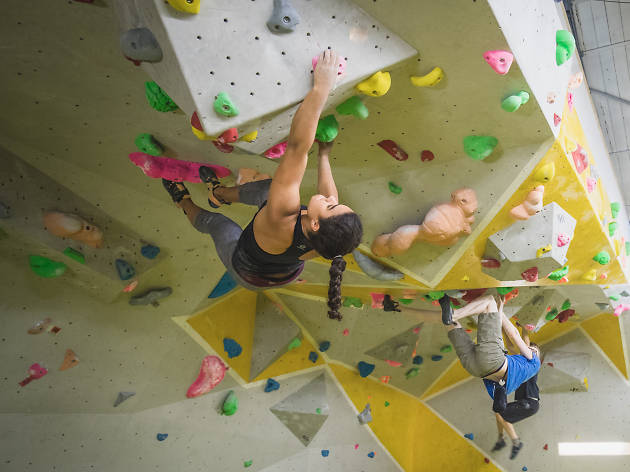 Kid-friendly climbing walls in London