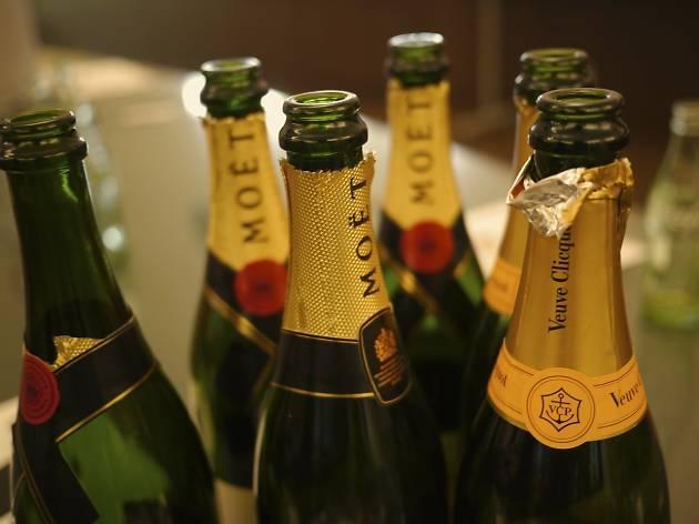 Sip champagne at Valentino