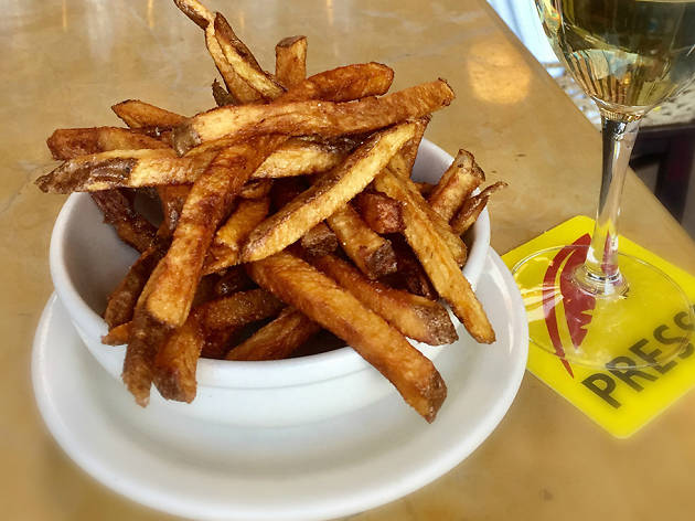 French fries at Cafe Presse in Seattle, WA