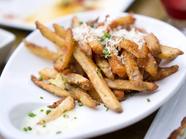 Duck fat fries at Salty Sow in Austin, TX