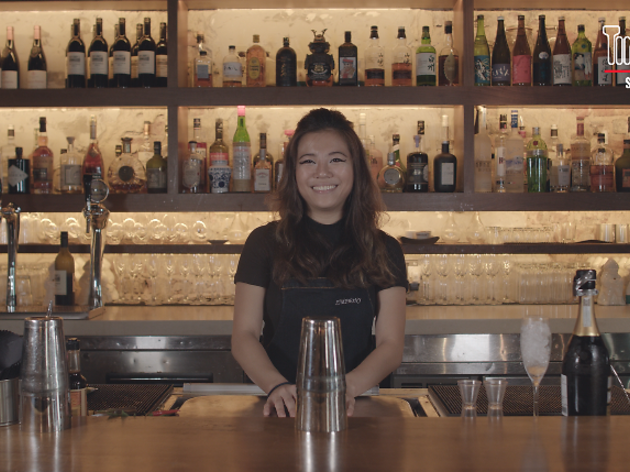 DIY cocktails by Neon Pigeon's head bartender Symphony Loo