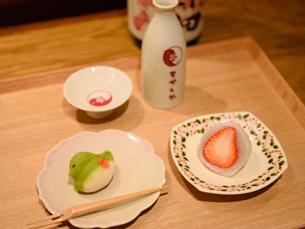 和菓子は居酒屋で食べる。