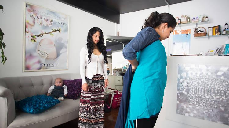 Servicio de spa y cursos para papás en Hot Mama