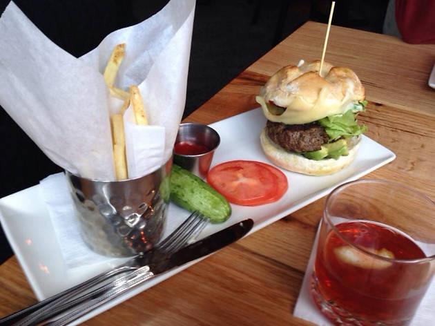 Burger at b DC Penn Quarter