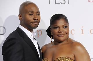 "(6347459bw)Mo'Nique, Sidney Hicks Mo'Nique and her husband Sidney Hicks pose at the premiere of the film ""Precious: Based on the Novel 'Push' by Sapphire,"" at AFI Fest 2009 in Los AngelesPremiere Precious LA, Los Angeles, USA"