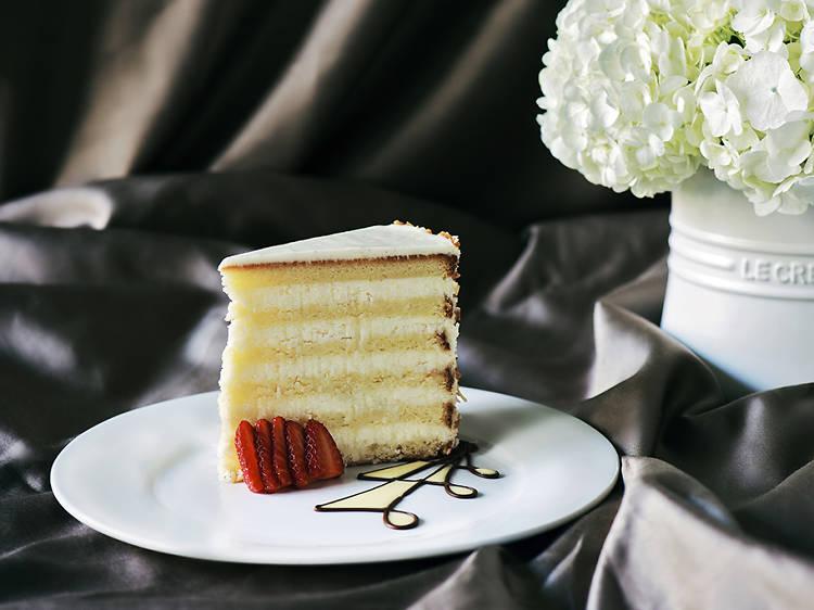 Ultimate coconut cake at Peninsula Grill in Charleston, SC