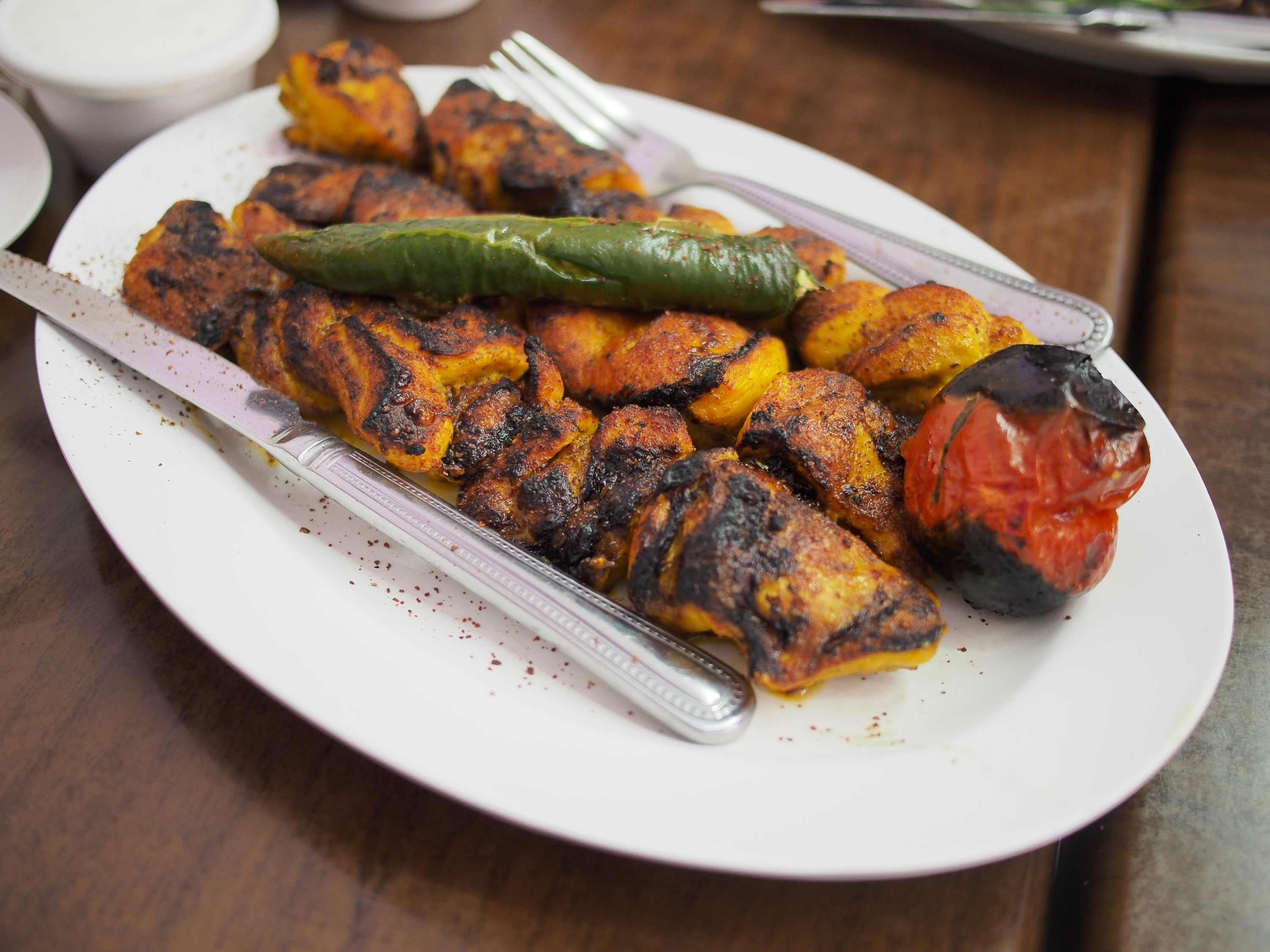 Afghani barbecue on a plate