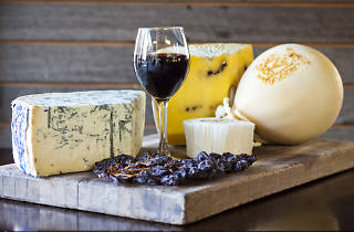 Cheese and wine at Formaggi Ocello Cheese in Sydney