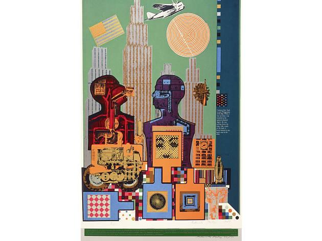 Eduardo Paolozzi: 'Wittgenstein in New York' (from the As is When portfolio) 1965 screenprint