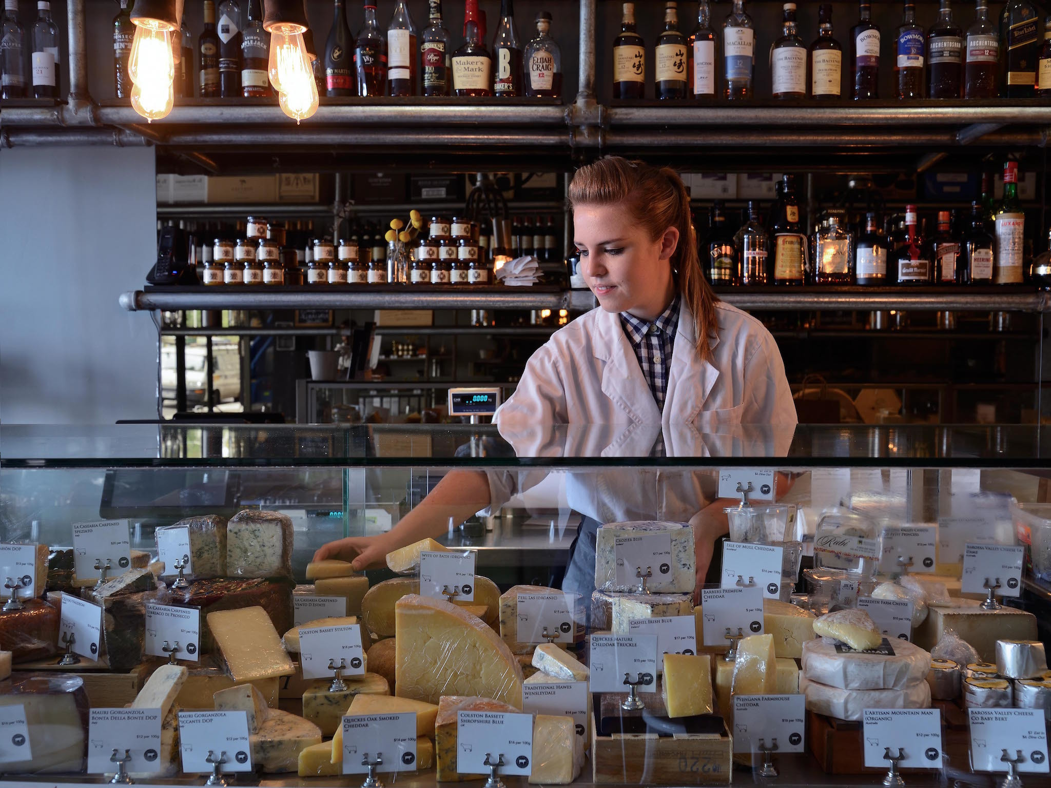 Order the creme de la crop cheeseboard at Milk the Cow