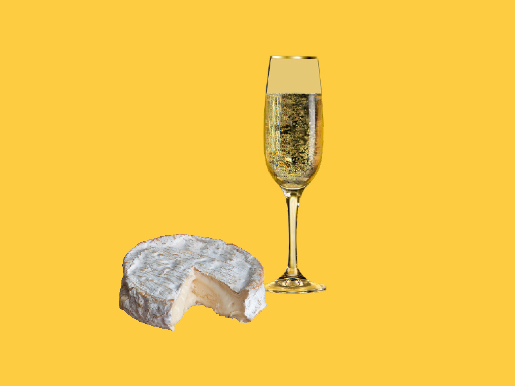 Triple cream Brie and Champagne