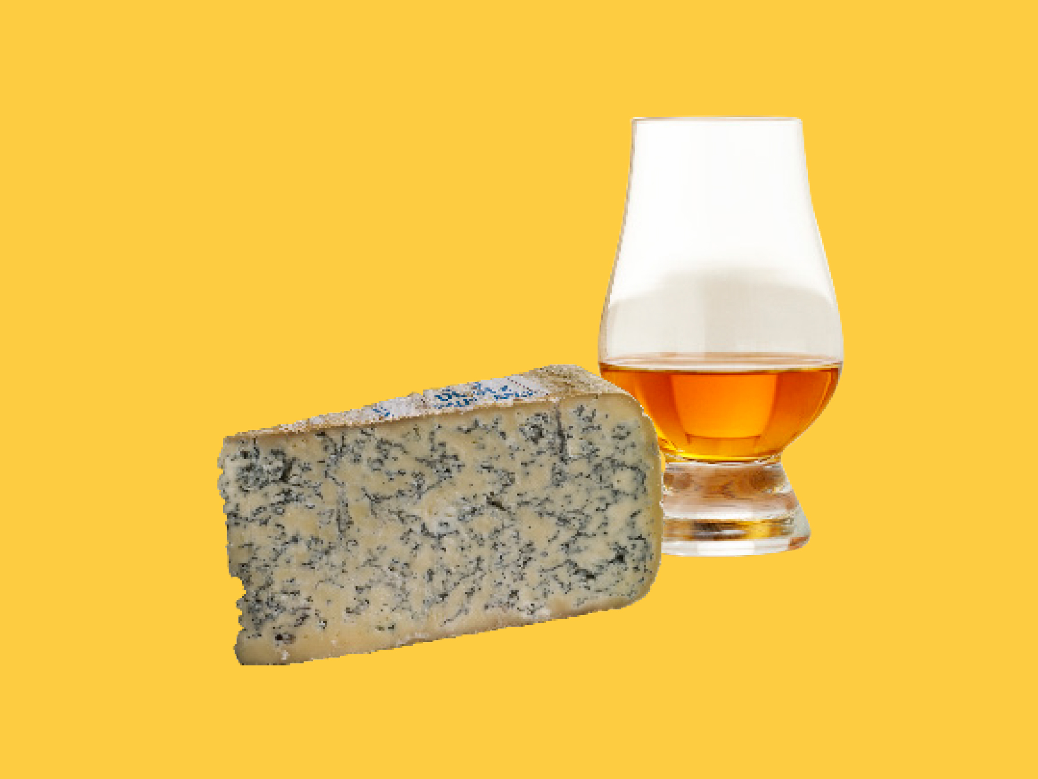 Blue cheese and whisky