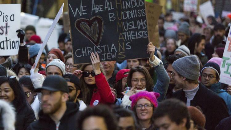 Battery Park protest