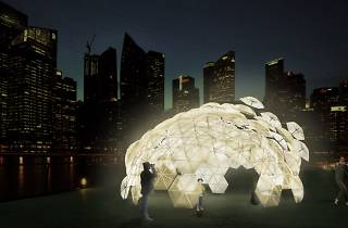 Dande-lier by COLOURS, Web Structure and SUTD, i Light Marina Bay