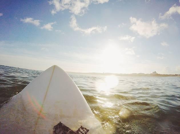 Surfing Surf Board Surfer Sky Water Ocean Sea