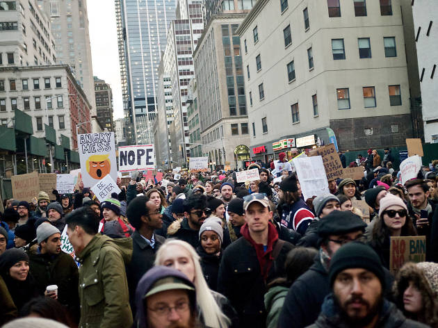 The protests and rallies against Trump taking place over President's Day Weekend