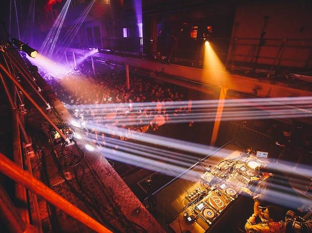 Take in the lasers at Printworks