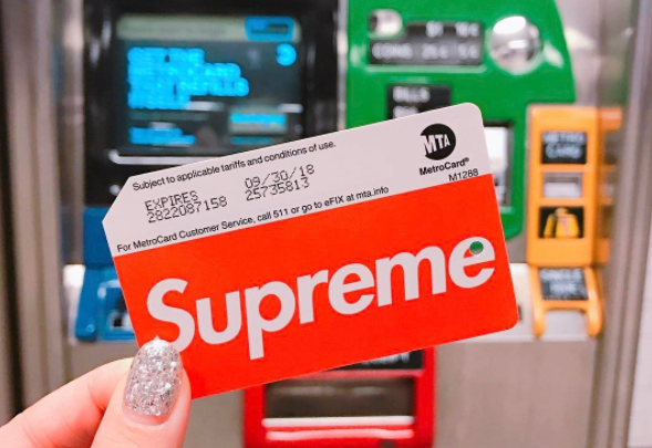 "People are selling ""Supreme""-branded MetroCards online for hundreds of dollars"
