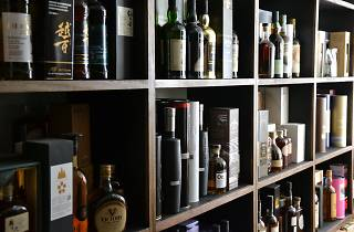 Whisky selection on the shelves at Melbourne bar Melbourne Whisky Room
